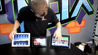 Tablet Screen & Camera Comparison Round Up & Review iPad 2 Blackberry Playbook ASUS Transformer