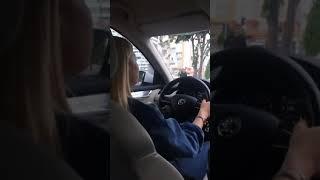 Gündüz Araba Snap Kız Şoför