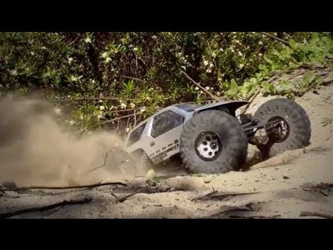 Project Brushless Axial Ridgecrest - Mini Monster Truck Bashing!