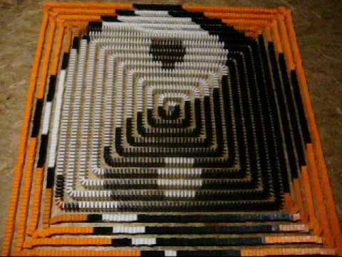 Yin and Yang domino spiral