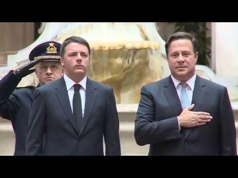 Roma - Renzi riceve Juan Carlos Varela (16.02.15)