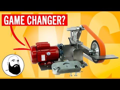 The BEST Belt Grinder for Knife Makers - KMG Knife Grinder