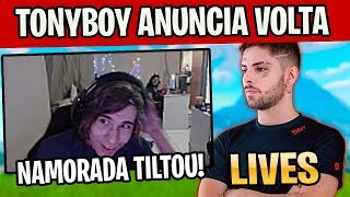 TONYBOY ANUNCIA VOLTA DE LIVES, NAMORADA DO PULGA TILTOU, ZOTIEBOY MIRA AIMBOOSTER