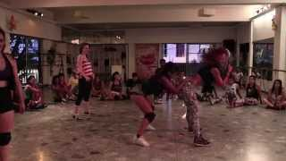 DANCEHALL VYBEZ MASH UP - 2014 -[semifinal]- Ceci & Wiki DHQ vs Flor Margerine & Anita DHQ