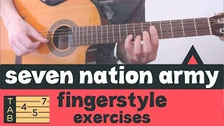 SEVEN NATION ARMY // Travis Picking Fingerstyle Guitar // Tutorial Lesson Tabs