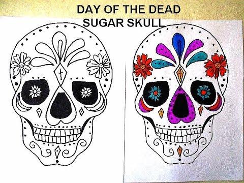 Day of the dead sugar skull template 158346 - iphone-de-vanzare.info
