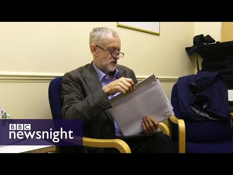 Behind the scenes with Jeremy Corbyn - Newsnight