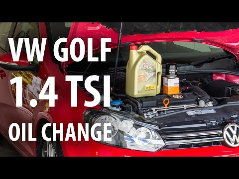 How to: VW 1.4 TSI (Golf Mk6) oil & filter change (service)