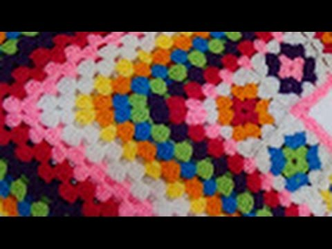 Crocheting Granny Squares On Youtube : Crochet Granny square Poncho Part-1 - YouTube