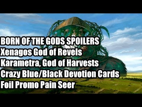 Born of the Gods Spoilers: Xenagos. God of Revels (G/R) and Karametra. God of Harvests (G/W)