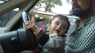 9 month baby rudraksh driving car #rudraksh