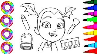 Colouring Drawings Disney's Vampirina Princess Coloring Pages Rainbow Sparkle Dress Disney Brilliant