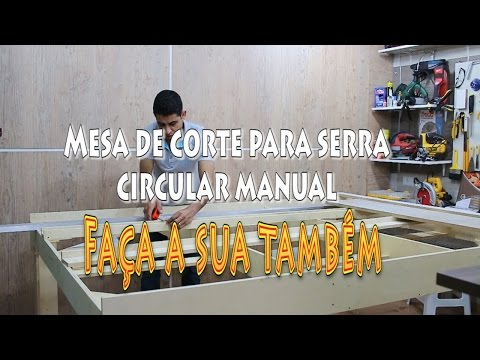 Mesa de corte para serra circular manual / Review.