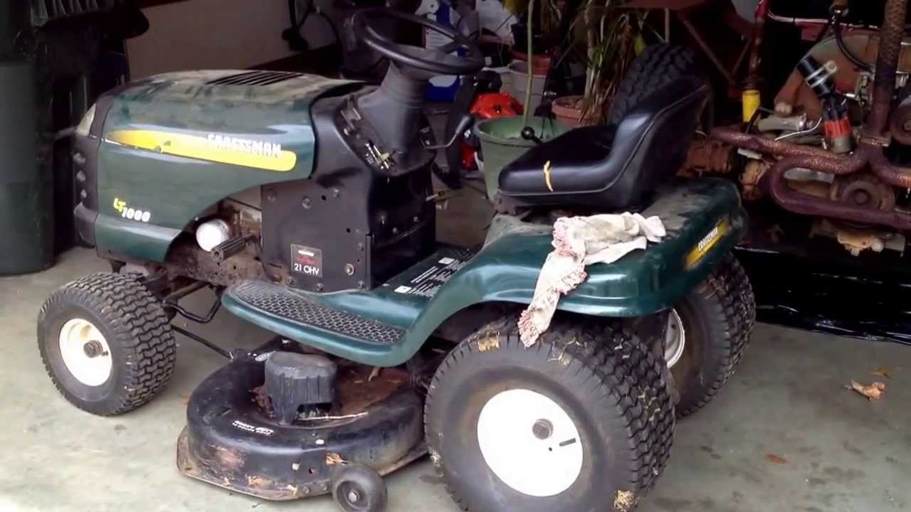 craftsman lt1000 riding mower sears