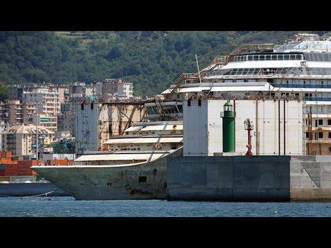 Parbuckling project, la Costa Concordia è arrivata a Genova: progetto completato. Timelapse