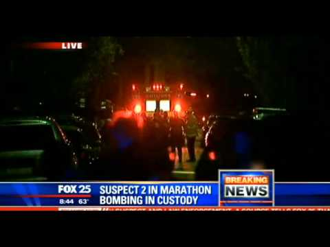 Boston Marathon suspect ARRESTED | Dzhokhar Tsarnaev ARRESTED SUSPECT 2 in Custody