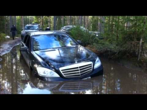 Mercedes S600 V12 crash in Russia- 1080p HD