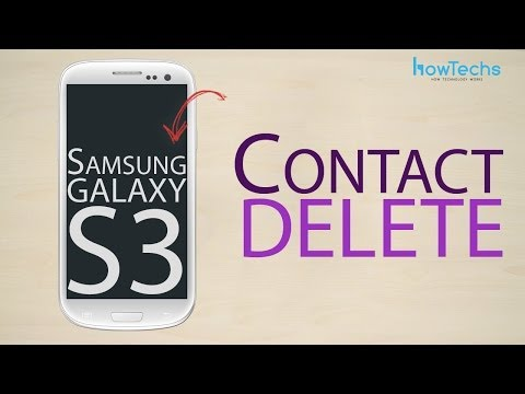 samsung s8 how to delete contact