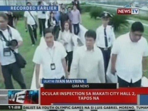 NTVL: Ocular inspection sa Makati City Hall 2, tapos na