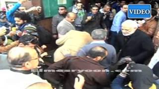 مراسم تشييع جثمان الفنان غسان مطر من مسجد مصطفى محمود