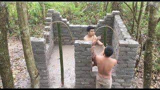 Primitive technology with survival skills Wilderness build house Roman part 3