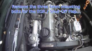 VW A4: ALH TDI EGR Removal for cleaning