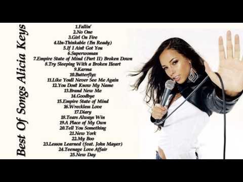 Alicia Keys Greatest Hits - Best Of Alicia Keys 2016
