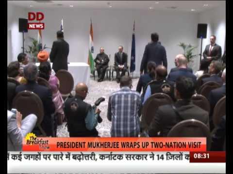 President Pranab Mukherjee wraps up two nation visit