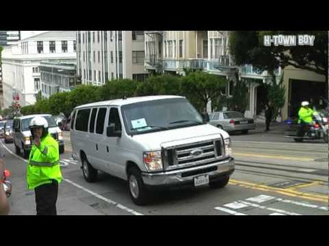 Barack Obama Motorcade in San Francisco Nob Hill 05/26/2010