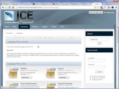 Установка продвинутого JCE редактора для Joomla