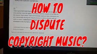 How to remove copyright music/DISPUTE  in your video /Paanu magdispute ng copyrigt sa video