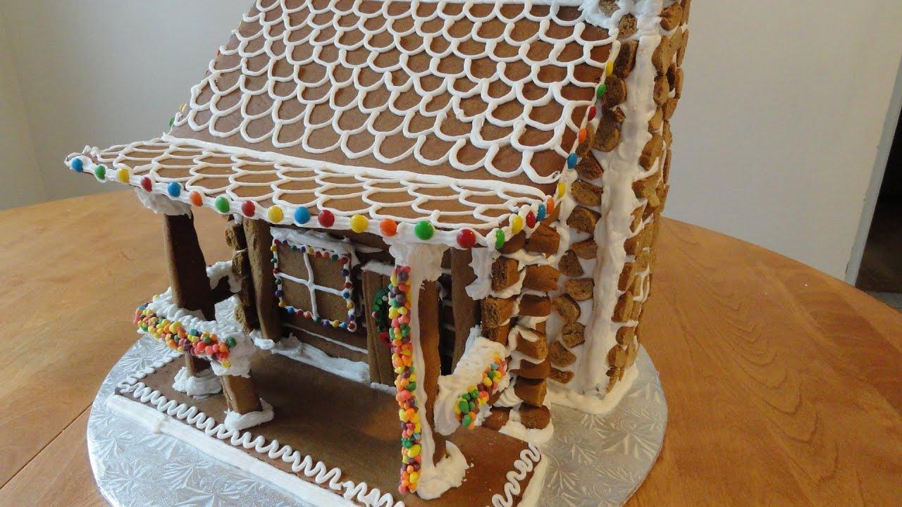 Gingerbread Log Cabin Part 1 Youtube