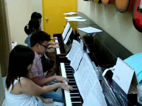 Doraemon Theme Song For 2 Pianos 8 Hands video