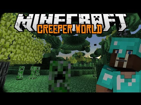 Minecraft mody 1.7.2 #60 CREEPER WORLD Świat creeperów