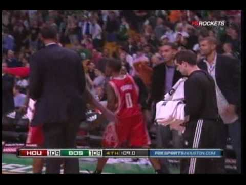 Aaron Brooks dagger three to force overtime vs. Celtics 4/2/2010 Video