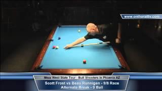 Scott Frost vs Beau Runnigen - Mezz WST 9 Ball - Bull Shooters in PHX