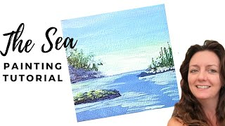 How To Paint The Ocean / Painting Tutorial For Beginners in Real Time
