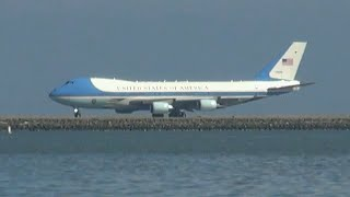 Air Force One Take off at San Francisco Int´l Airport SFO