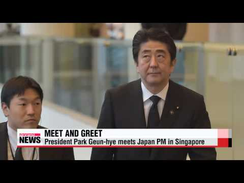PRIME TIME NEWS 22:00 Pres. Park Geun-hye meets Japanese PM Shinzo Abe in Singapore
