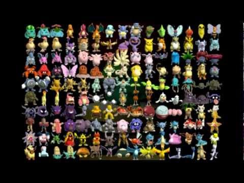 I Voice All 649 Pokemon Part 1 Kanto Youtube