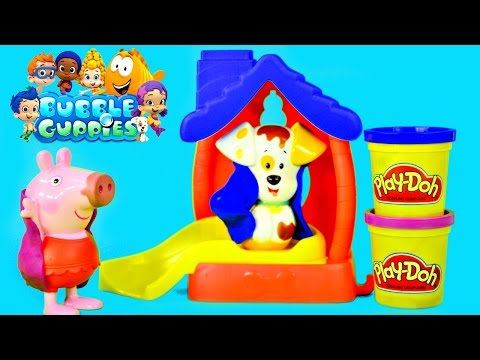 Bubble Guppies Color Changer Bathtime Puppy Play Doh Muddy Peppa Pig Water Changing Toys By Dctc video