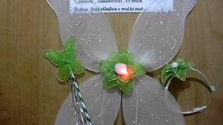 Kit da fada sininho com luzes , branca , verde e com detalhes em prata