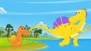 Spinosaurus + T. Rex (Tyrannosaurus Rex) Song | Dinosaurs Songs by FunForKidsTV