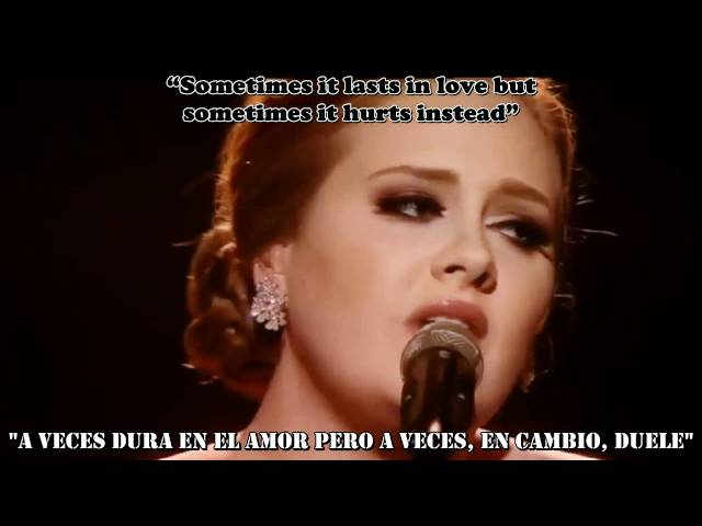 Adele - Someone Like You [subtitulos español + ingles]