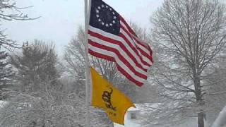 Betsy Ross and Gadsden Flags