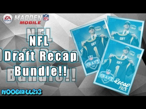 Madden Mobile 16 NFL Draft Recap Bundle!!