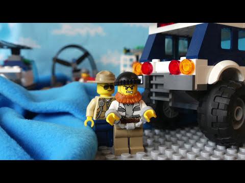 Игрушка Лего сити. Мультик с детской озвучкой! Lego City Логово преступников 60068. Видео для детей.