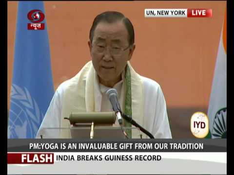 UN Secy general Ban Ki-moon message on International Day of Yoga