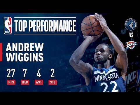 Andrew Wiggins Game-Winner vs. Thunder, Scores 27   October 22, 2017