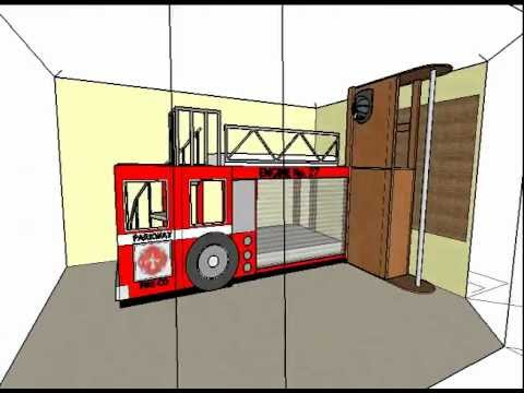 Fire Engine Bunk Beds Animation (no sound) - YouTube